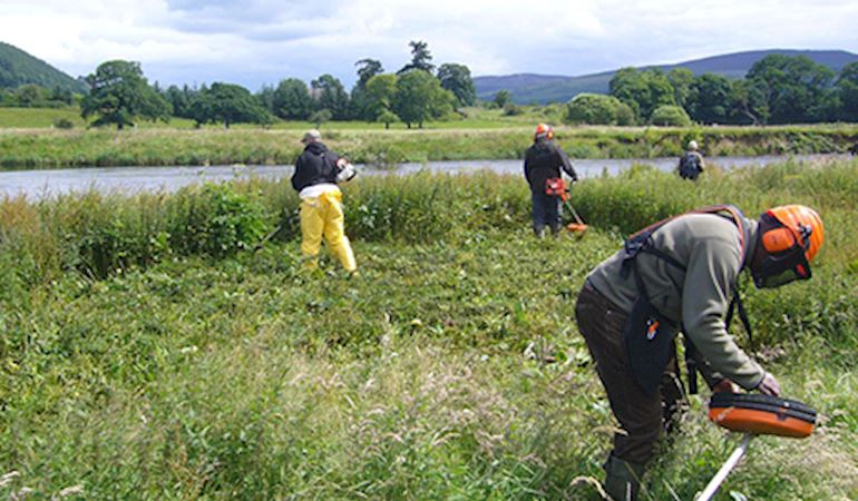 Participants involve in the new river restoration qualification