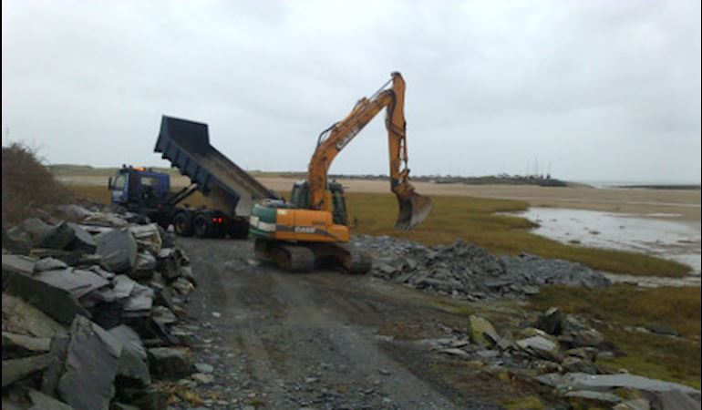 Work being carried out at Llanbedr