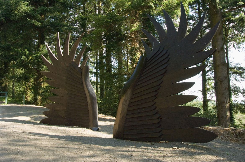 Sculptures at Byrgwm car park