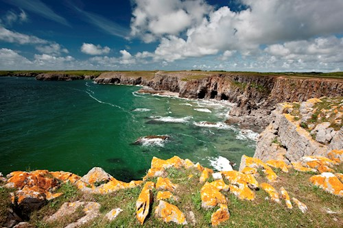 Cliffs and sea at Stackpole