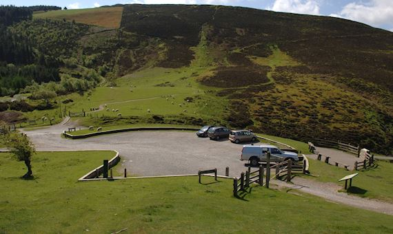 Car park at Bwlch Pen Barras