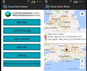 Flood alerts app