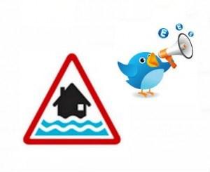 Flood alerts twitter