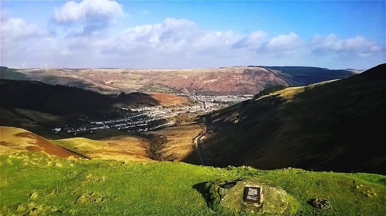 Looking over Cwmparc from the Bwlch, Rhondda