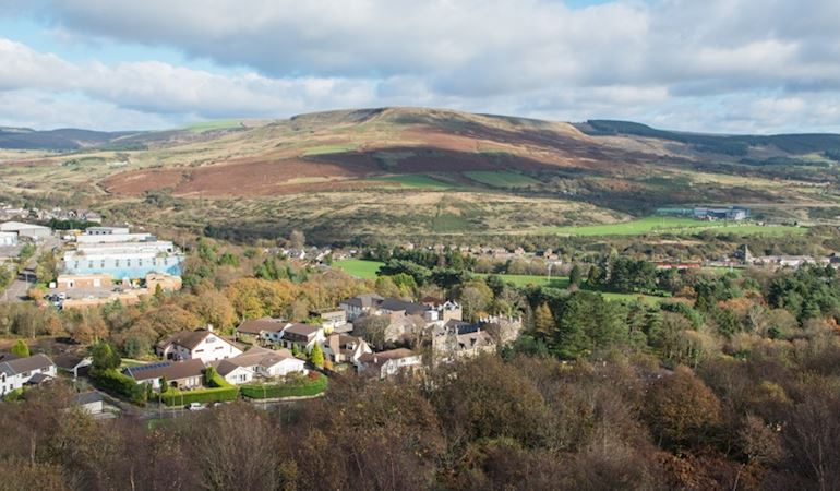 View of the Upper Llynfi Valley