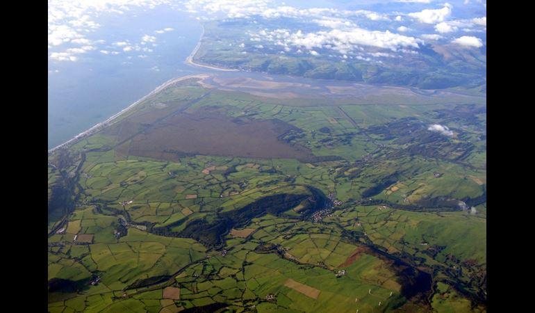 Dyfi, aerial view