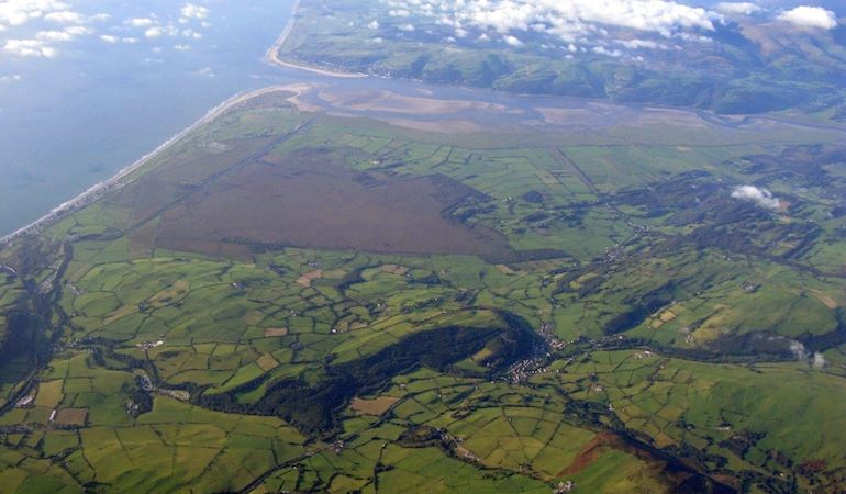 Birds eye view of Dyfi