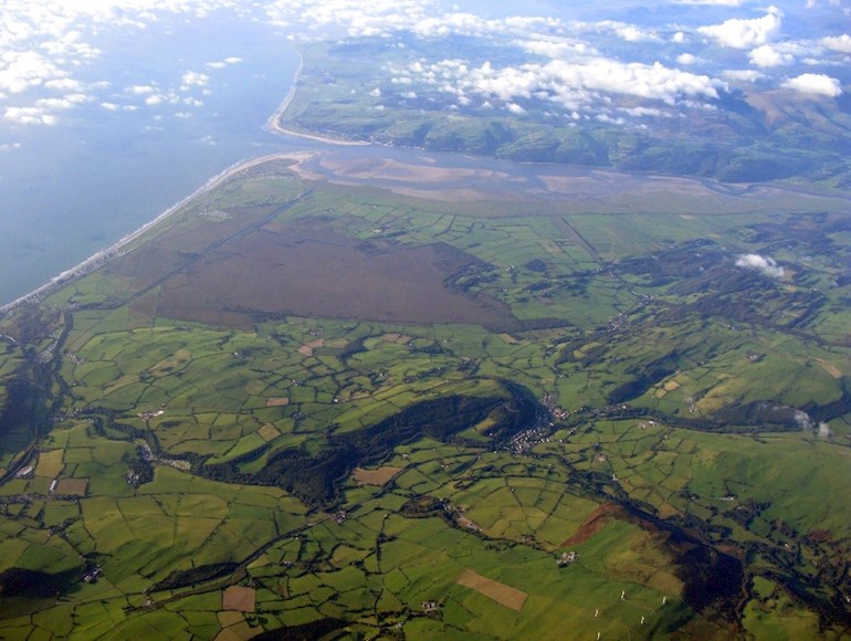 Birds eye view of Dyfi