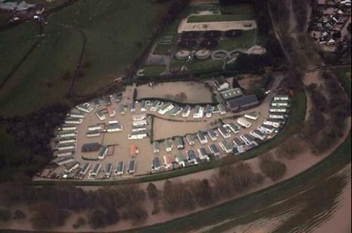 Aerial view of the Spring Gardens Caravan Park