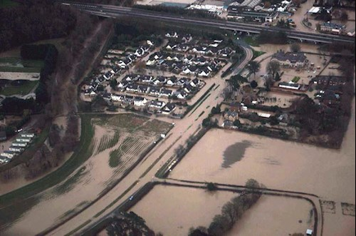 Aerial view of the A55 Roe Park