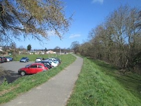 View of the car park