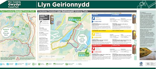 Geirionnydd to Crafnant Trail map