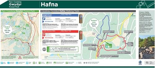 Llwybr Mwynwyr Hafna map