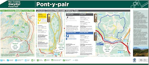 Llyn Parc Trail map