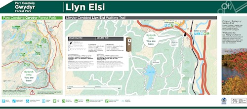 Llwybr Llyn Elsi map