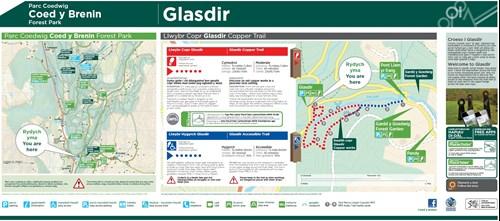 Glasdir Copper Trail map