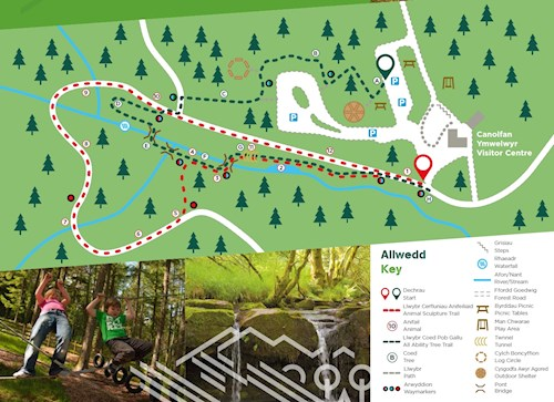 Garwnant Puzzle Trails map