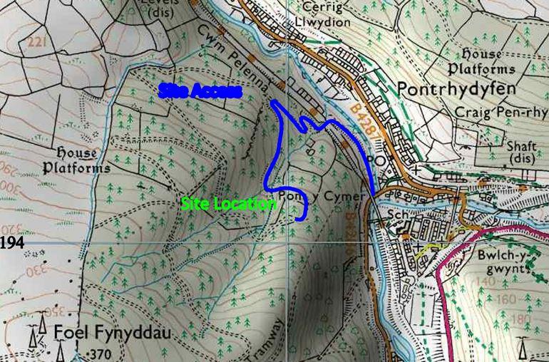 Map image of Pontrhydyfen