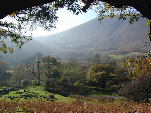 view of the landscape at Coedydd Aber