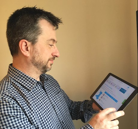 Martin testing the new flood pages