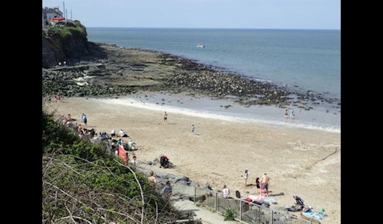 View of New Quay beach