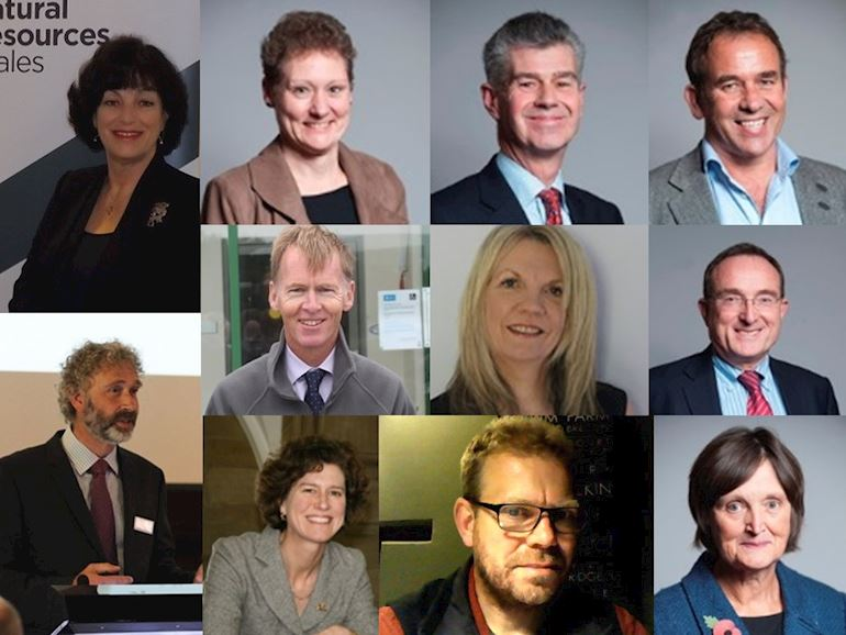 Profile picture of the eleven members of the Natural Resources Wales board