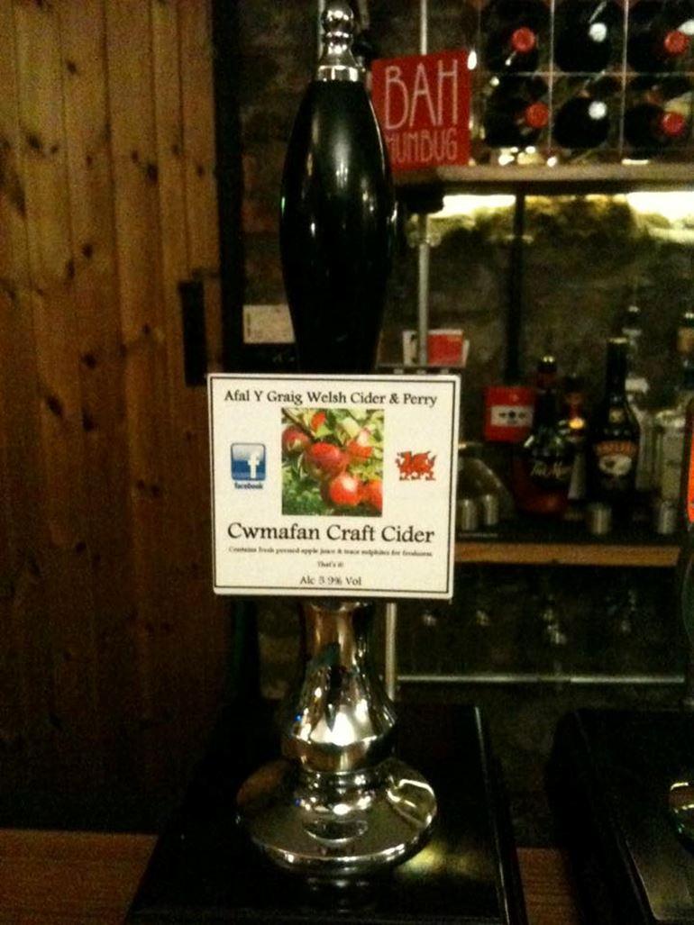 Cwmafan cider pump in a pub