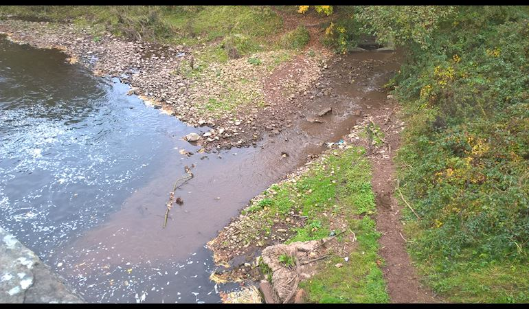 Image of Silt pollution at Llangattock