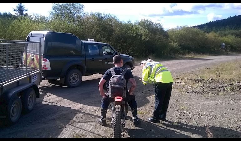 Illegal off-roaders caught by South Wales Police