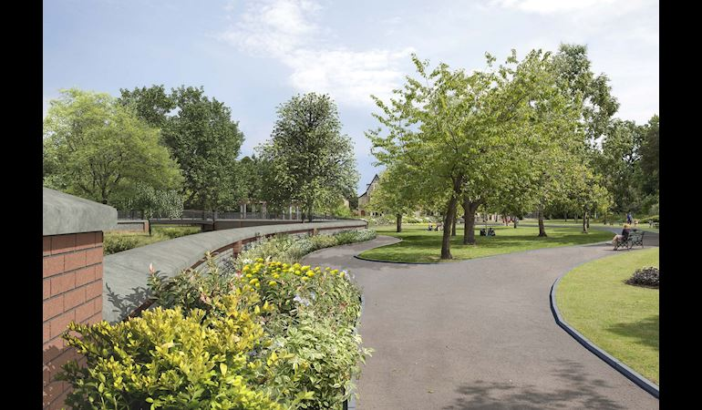 View of Waterloo Gardens in Roath