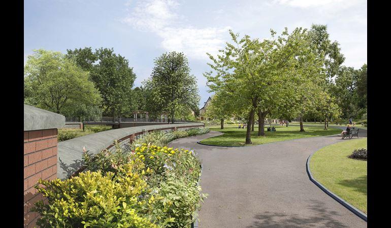 View of Waterloo Gardens in Roath