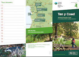 Tan y coed animal puzzle trail leaflet
