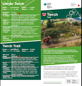 Twrch mtb trail leaflet