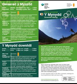 Y Mynydd mtb trail leaflet