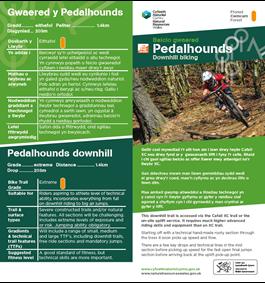 Pedalhounds mtb trail leaflet