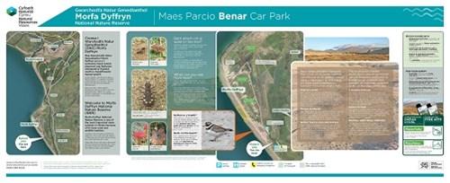Morfa Dyffryn  Benar car park leaflet