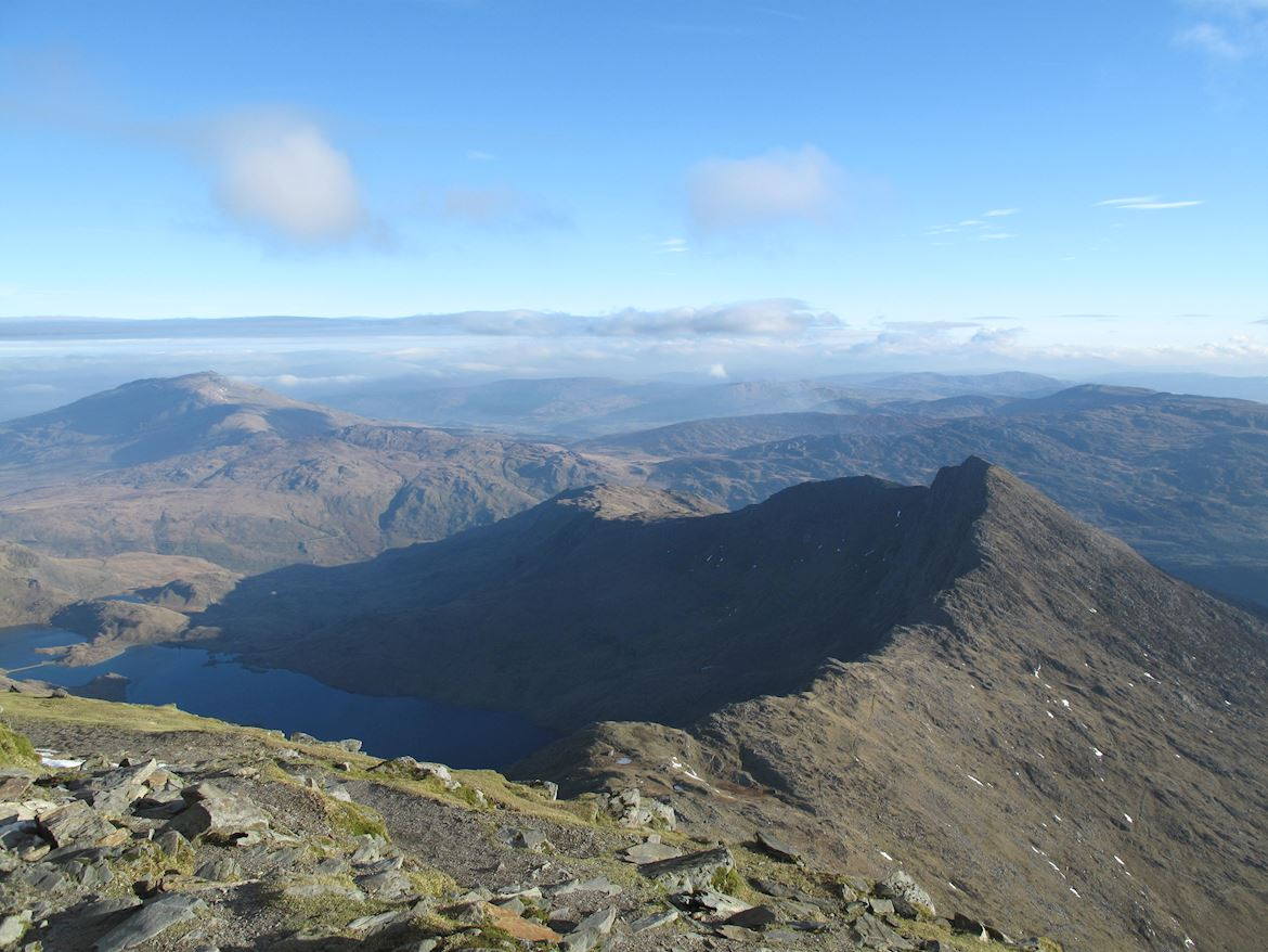 View of the landscape at Snowdon National Nature Reserve