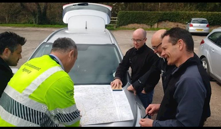 NRW team planning a response to a pollution incident
