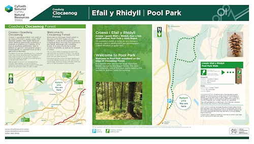 Clocaenog Panel Pool Park leaflet