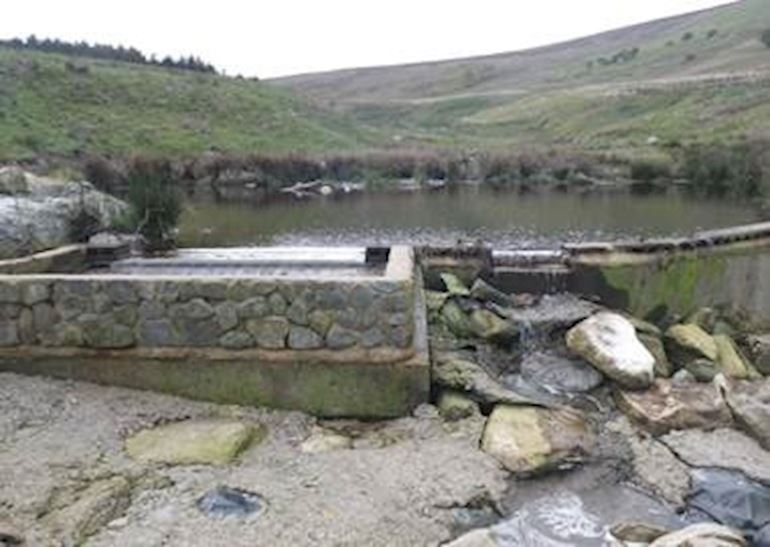 View of an intake weir