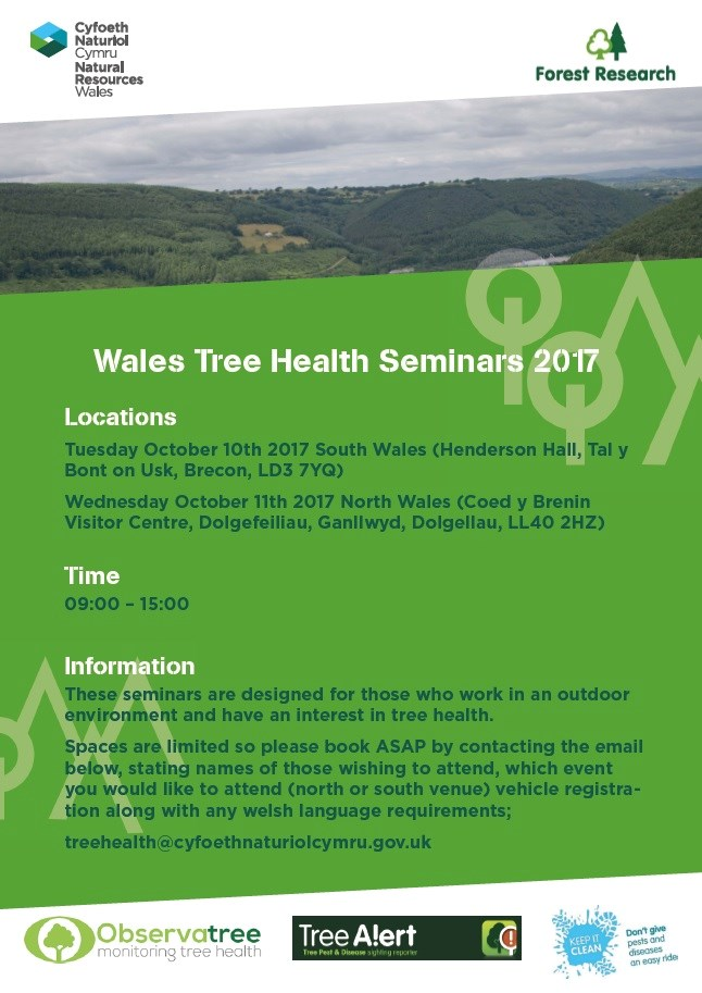 Wales Tree Health Seminars 2017