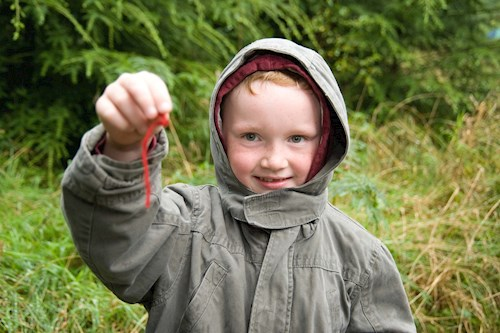 Boy with geocache