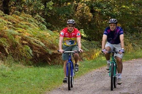 Two men on bikes