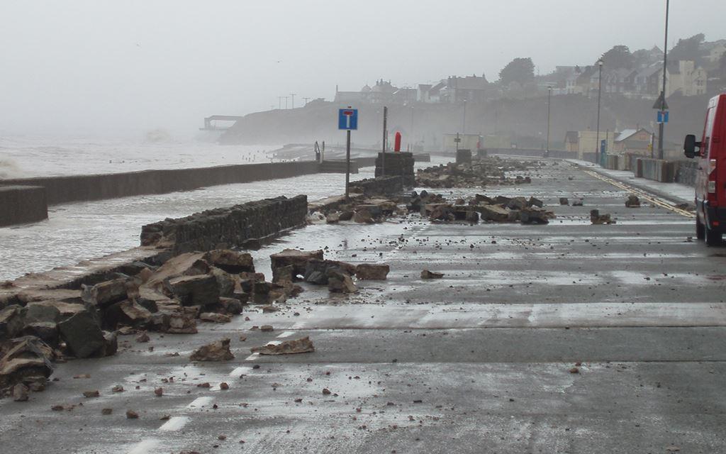 Flooding at Barmouth January 2014