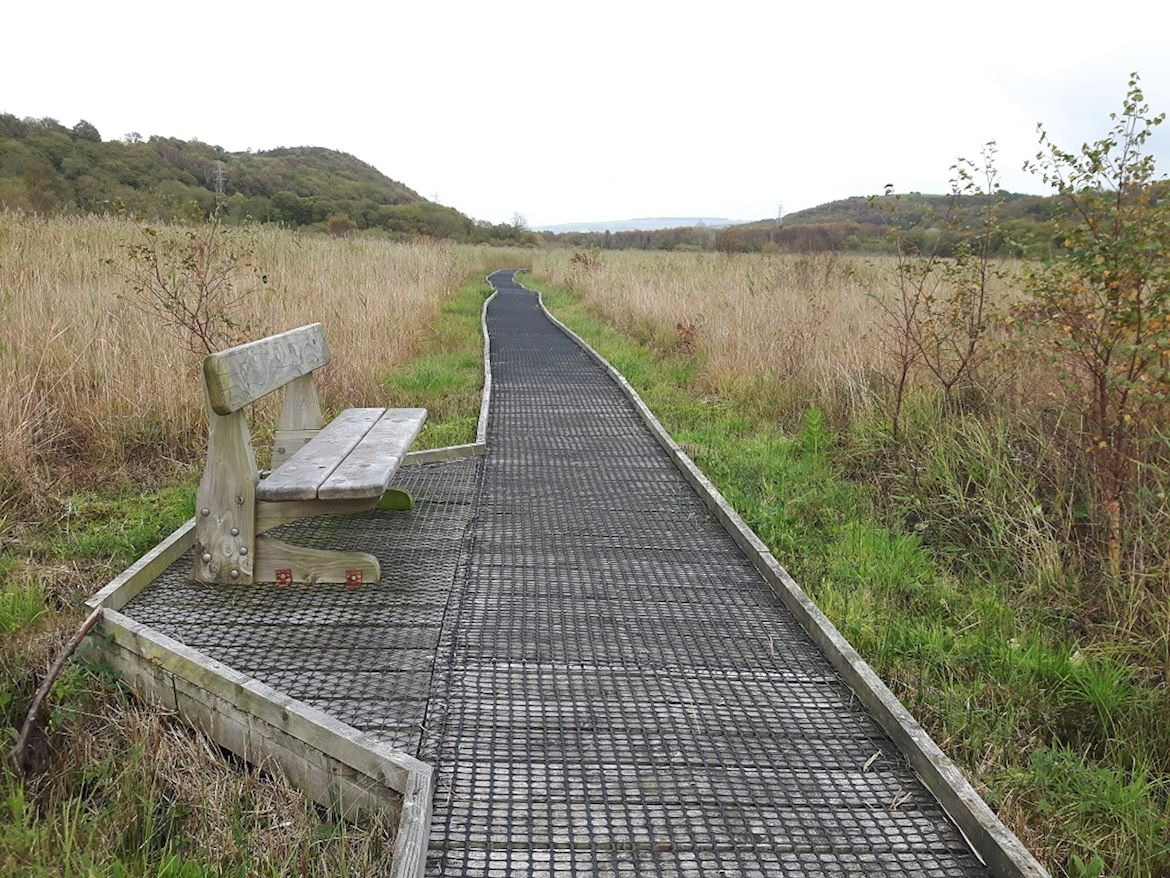 Bench at Pant y Sais National Nature Reserve