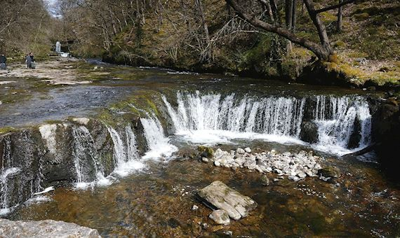 View of a waterfall at Pont Melin-fach, near Ystradfellte