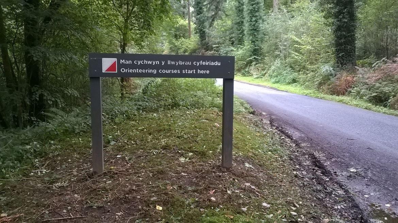 Orienteering sign in Gwydir Forest Park
