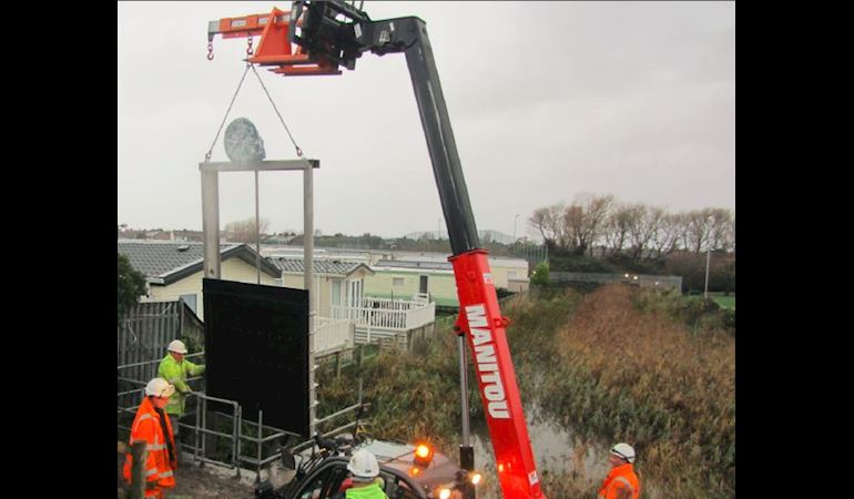 Construction of the new penstock at Rhyl sluice