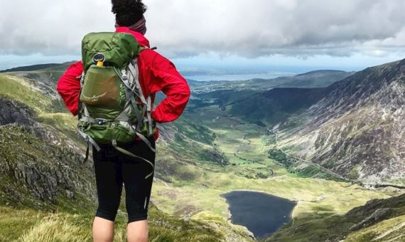 Charlie Lewis at Glyder Fawr, Snowdonia - photographed by Charlie Lewis