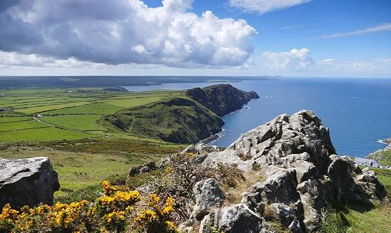 View of Pwll Deri from Garn Farm, Pembrokeshire - photographed by Ian Medcalf